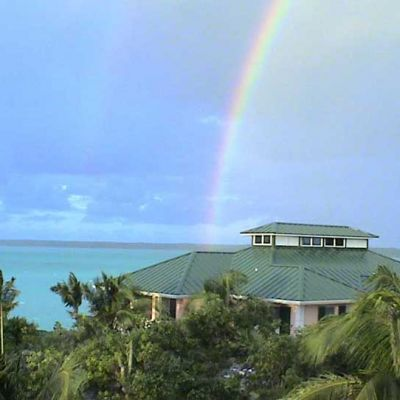 Emerald Shores Rainbow over Main House