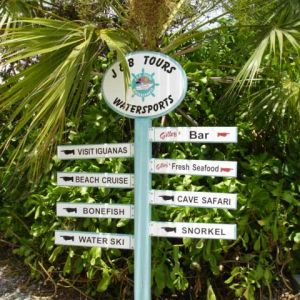 J-and-B-Tours sign on Turks and Caicos